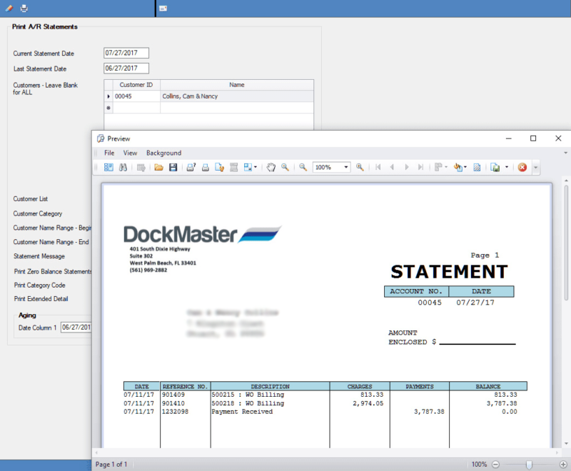 DockMaster Financial Statement