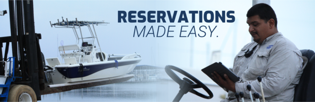 Reservations are made easy with BoatCloud's integration to DockMaster